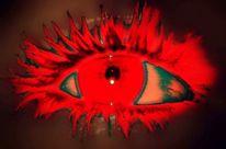 Schminke, Rot, Augen, Menschen