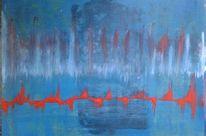 Acrylmalerei, Abstrakt, Gefühl, Verwischen