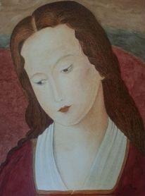 Heilig, Frau, Moulins, Aquarell