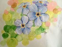 Frühlingsblumen, Frühling, Blumen, Copic