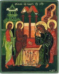 Tempel, Ikonen, Jesus, Malerei
