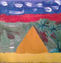 Ägypten, Pyramide, Aquarell
