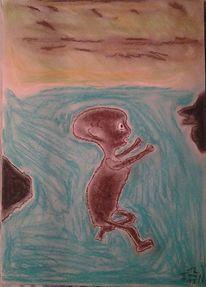 Hunger, Pastellmalerei, Kind, Afrika