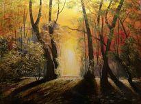 Baum, Träumerei, Natur, Gelb