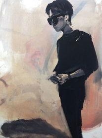Mann, Schwarzweiß, Schatten, Koreaner