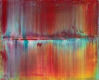 Rakeltechnik, Acrylmalerei, Gemälde, Abstrakt