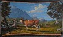 Malerei, Kuh, Gemälde, Vaca