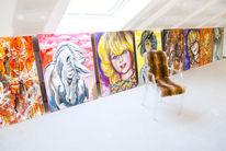 Freiheit, Portrait, Farben, Atelier