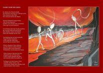 Erschöpfung, Rot, Interpretation, Gedicht