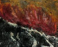 Acrylmalerei, Feuerwerk, Abstrakt, Malerei