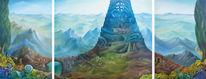 Stadt, Babylon, Triptychon, Mythologie
