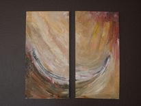 Übergang, Dynamik, Acrylmalerei, Welle