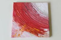 Rot, Acryl wut, Abstrakt, Fluss