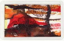 Snailtalk300, Begegnung, Braun, Malerei