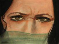 Gesicht, Augen, Malerei