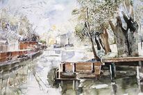 Berlin, Aquarellmalerei, Landschaft, Aquarell