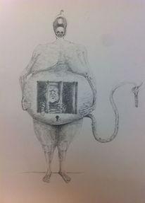 Schwangerschaft, Gefängnis, Schlüssel, Schlüsselloch