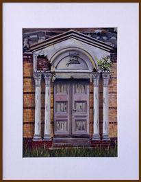 Friedhof, Tür, Tor, Malerei