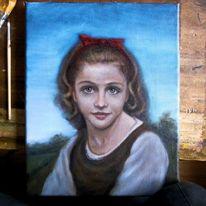 Mädchen, Ölmalerei, Alla, Portrait