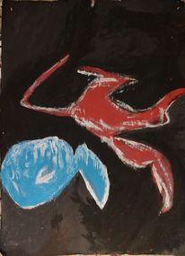 Malerei, Fisch, Fuchs