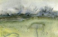 Weiden, Skizze, Aquarellmalerei, Frost