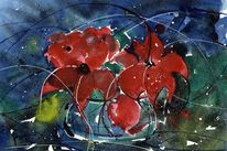 Blumen, Aquarellmalerei, Stillleben, Malerei