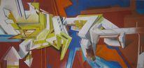 Abstrakt, Gemälde, Graffiti, Pastellmalerei