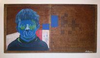 Portrait, Surreal, Acrylmalerei, Gemälde
