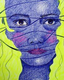 Psychologie, Wachstum, Zeichnungen, Prozess