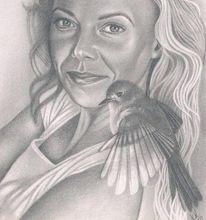 Freiheit, Portrait, Sehnsucht, Zeichnungen