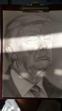 Trump, Americafirst, Weltenbühne, Zeichnungen