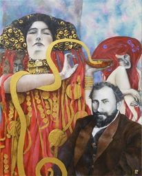 Die medizin, Klimt, Jugendstil, Malerei