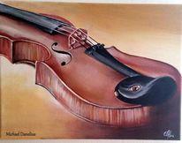 Geige, Musik, Klang, Malerei