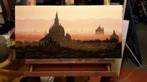 Asien, Landschaftsmalerei, Myanmar, Ölmalerei