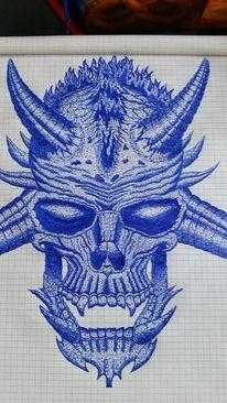 Open air, Zeichnung, Schraffur, Metall