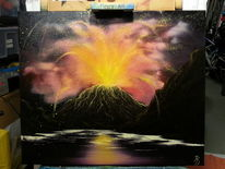 Wasser, Gefahr, Landschaft, Vulkan
