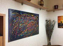 Leinen, Ölmalerei, Abstrakt, Malerei