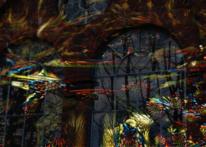 Fenster, Baum, Mauer, Digitale kunst