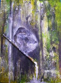Spatz, Vogel, Tierportrait, Malerei