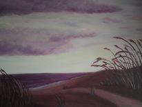 Malerei, Strand, Acrylmalerei, Landschaft