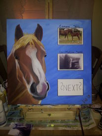 Acrylmalerei, Stute, Malerei, Pferde