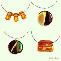 Glas, Halsschmuck, Modern, Design