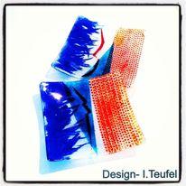 Glas, Abstrakt, Modern, Glasschale