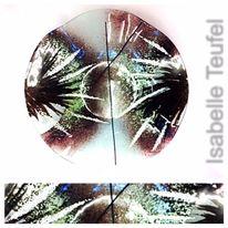 Glasschale, Emaille, Glas, Schale