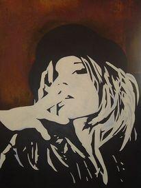 Acrylmalerei, Frau, Malerei, Pop