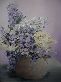 Besinnlichkeit, Blumen, Lila, Gefäß