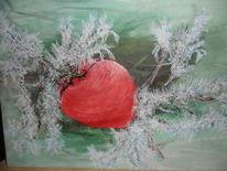 Grün, Winter, Zweig, Kälte