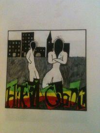 Cd cover, Zeichnung, Grafik, 2012