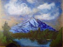 Berge, See, Malerei
