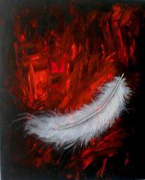 Fantasie, Acrylmalerei, Stimmung, Rot